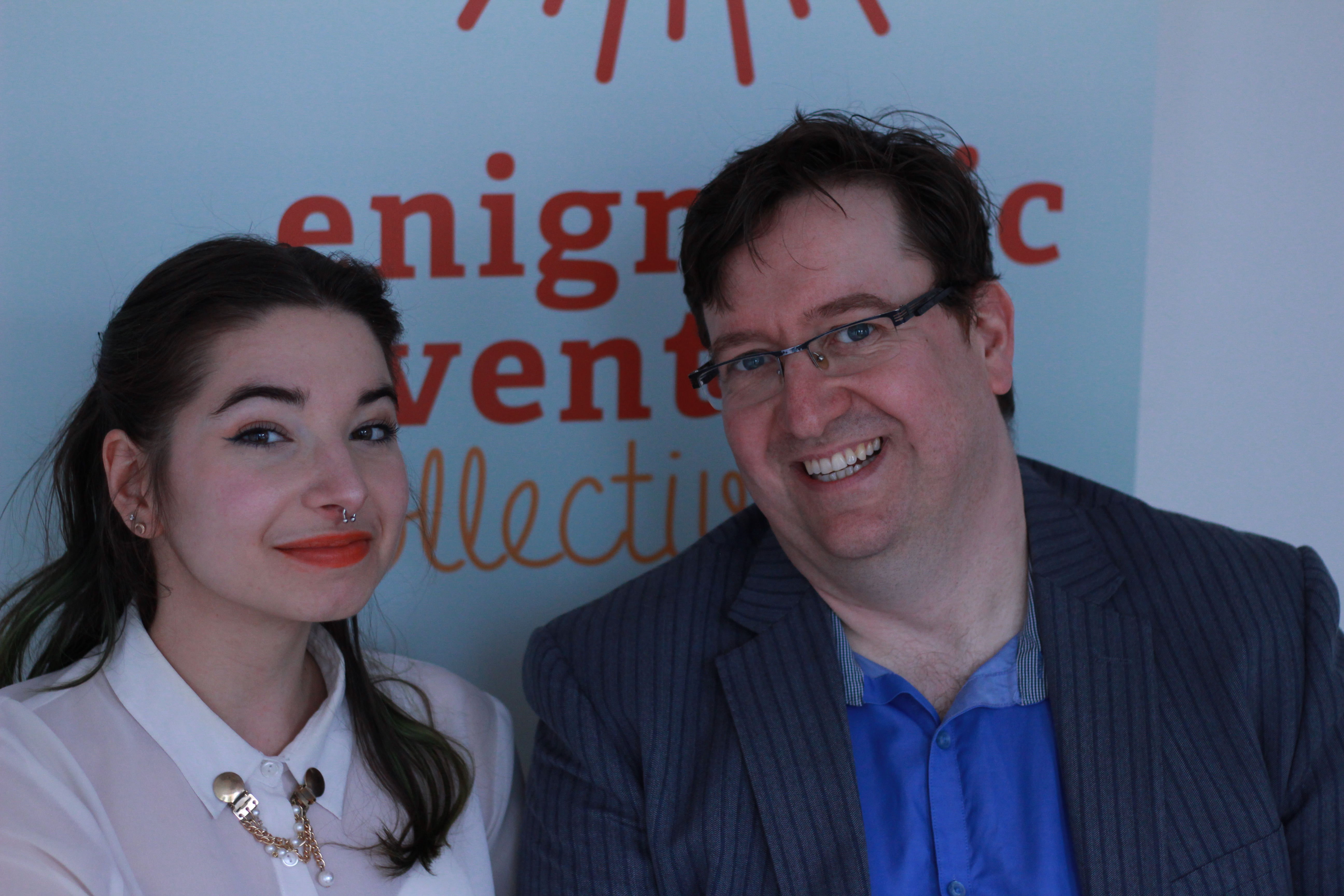 Image of Natasha Guerra and Chris Rudram of Enigmatic Events Collective.